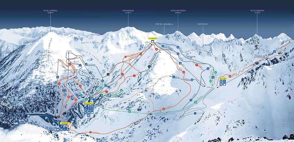 מפת מסלולים - אורדינו - ארקאליס