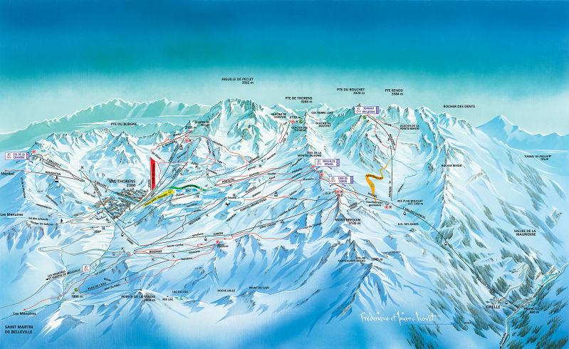 מפת מסלולים - ואל טורנס