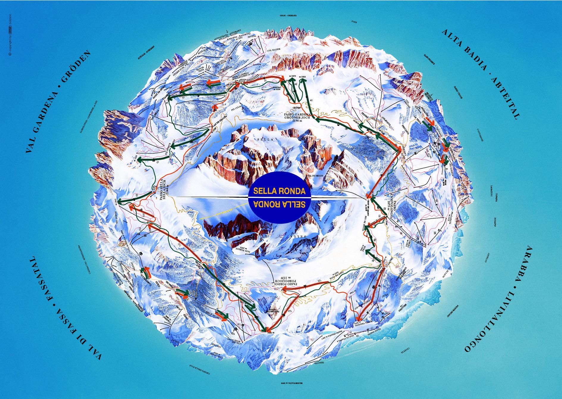 מפת מסלולים - סלה רונדה
