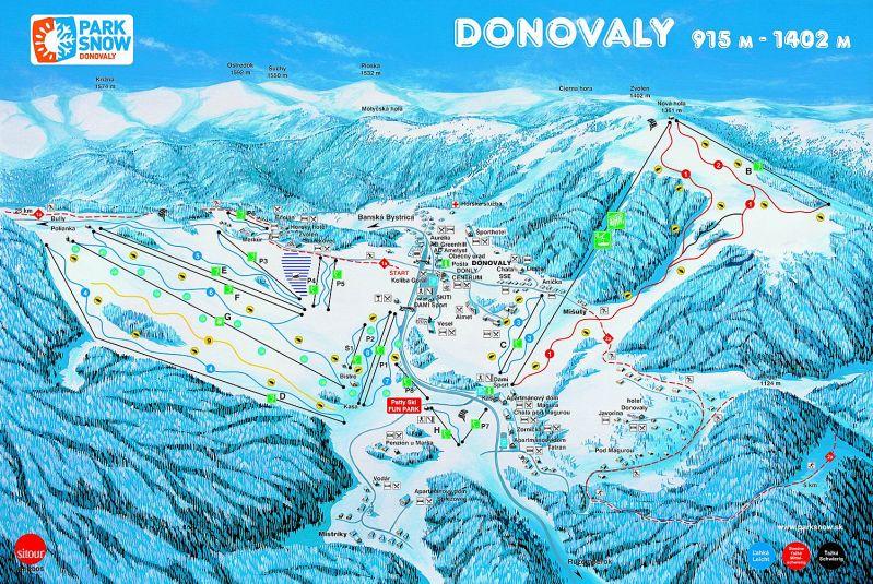 מפת מסלולים - דונובלי