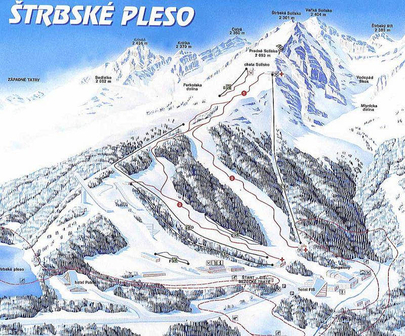 מפת מסלולים - סטרבסק פלסו