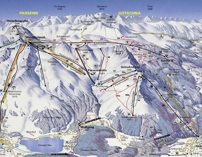מפת מסלולים - קלוסטרס